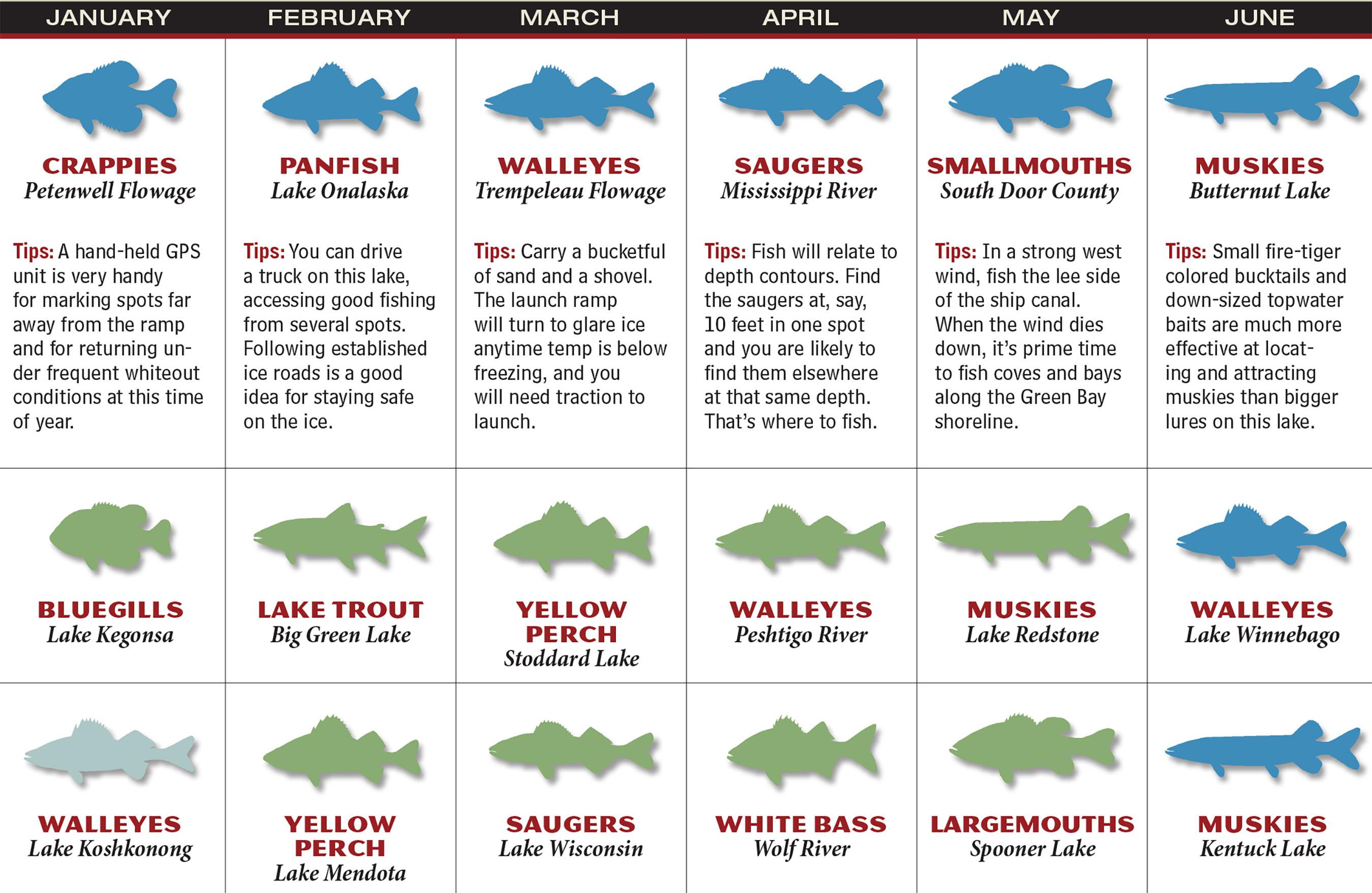 WI Fishing Forecast Calendar P1