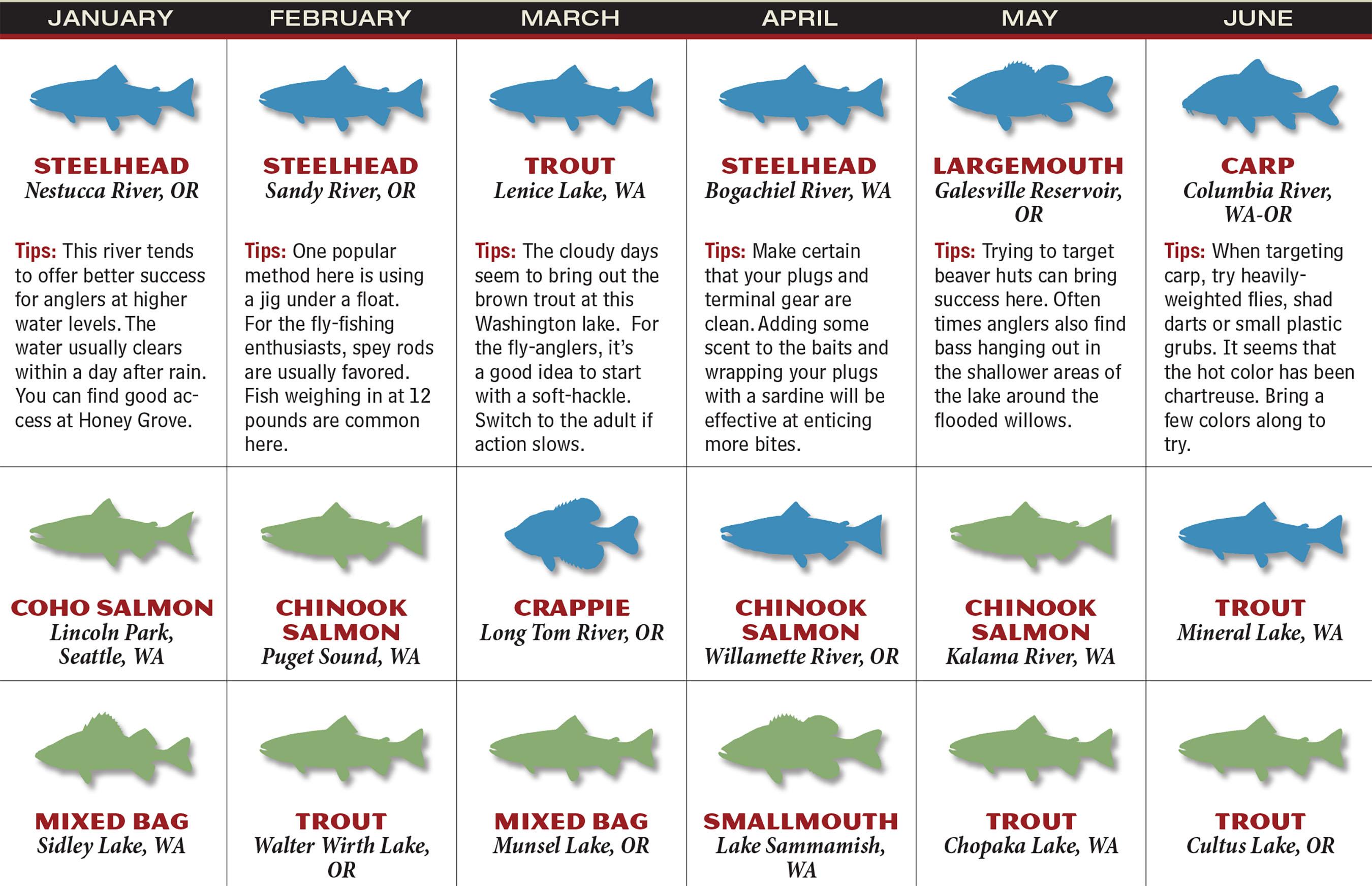 2017 washington oregon fishing forecast game fish for Oregon fishing license 2017