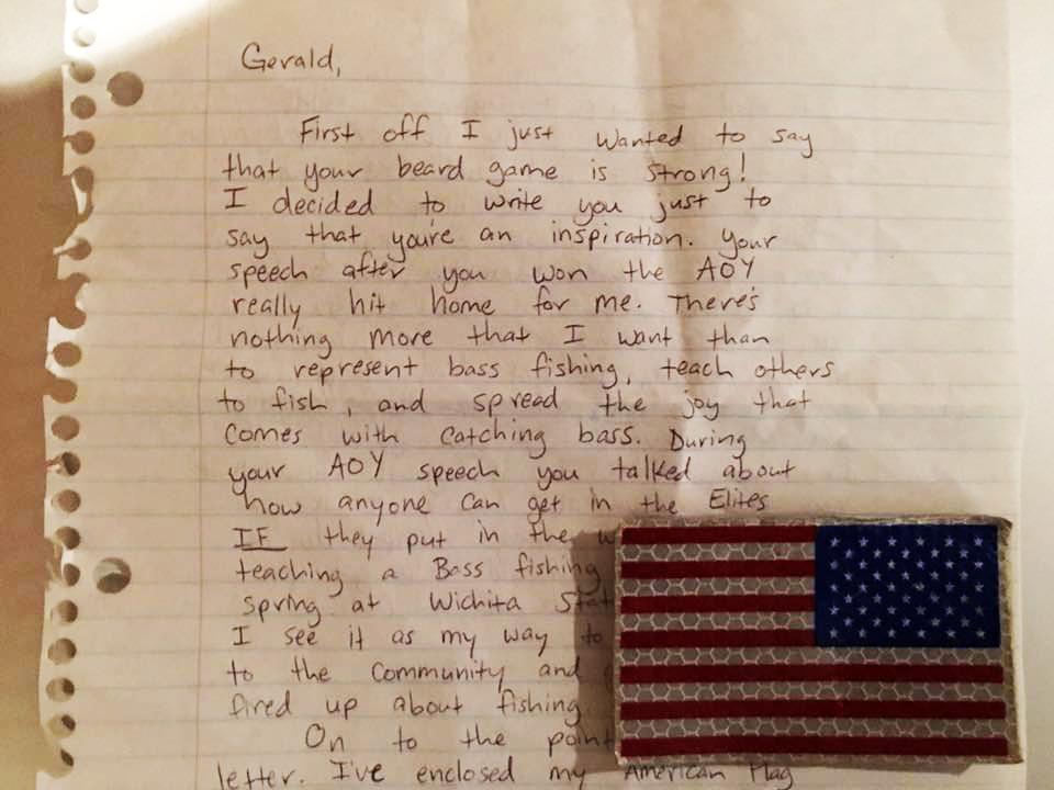 Pro Angler 'Speechless' After Letter from Iraq War Vet