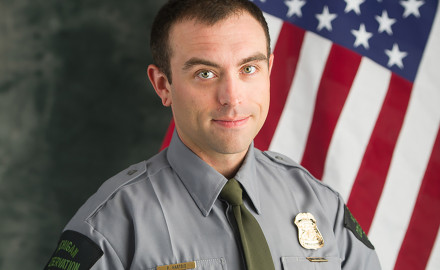 A Michigan Department of Natural Resources conservation officer rescued a shoeless 10-year-old