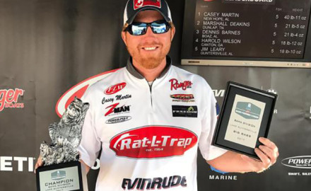 Most bass anglers never catch in a lifetime what pro fisherman Casey Martin caught in one day last