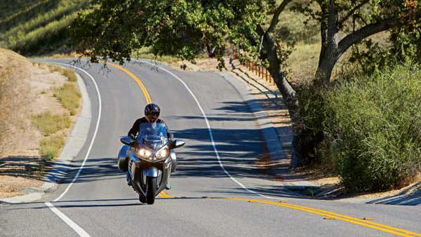 The beauty of Southern California touring: Miles of nearly empty two-lane roads are just minutes from the urban hustle and bustle.  Photo courtesy Dunlop Motorcycle Tires