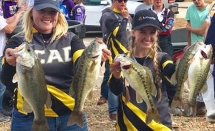 Two Savannah College of Art and Design students made tournament bass fishing history by becoming