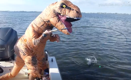 T-Rex fishing
