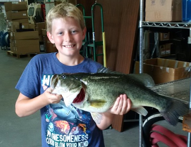 Bragging Board: Kids and Lunkers, P.B. Smallie, Tiny 'Trophy'