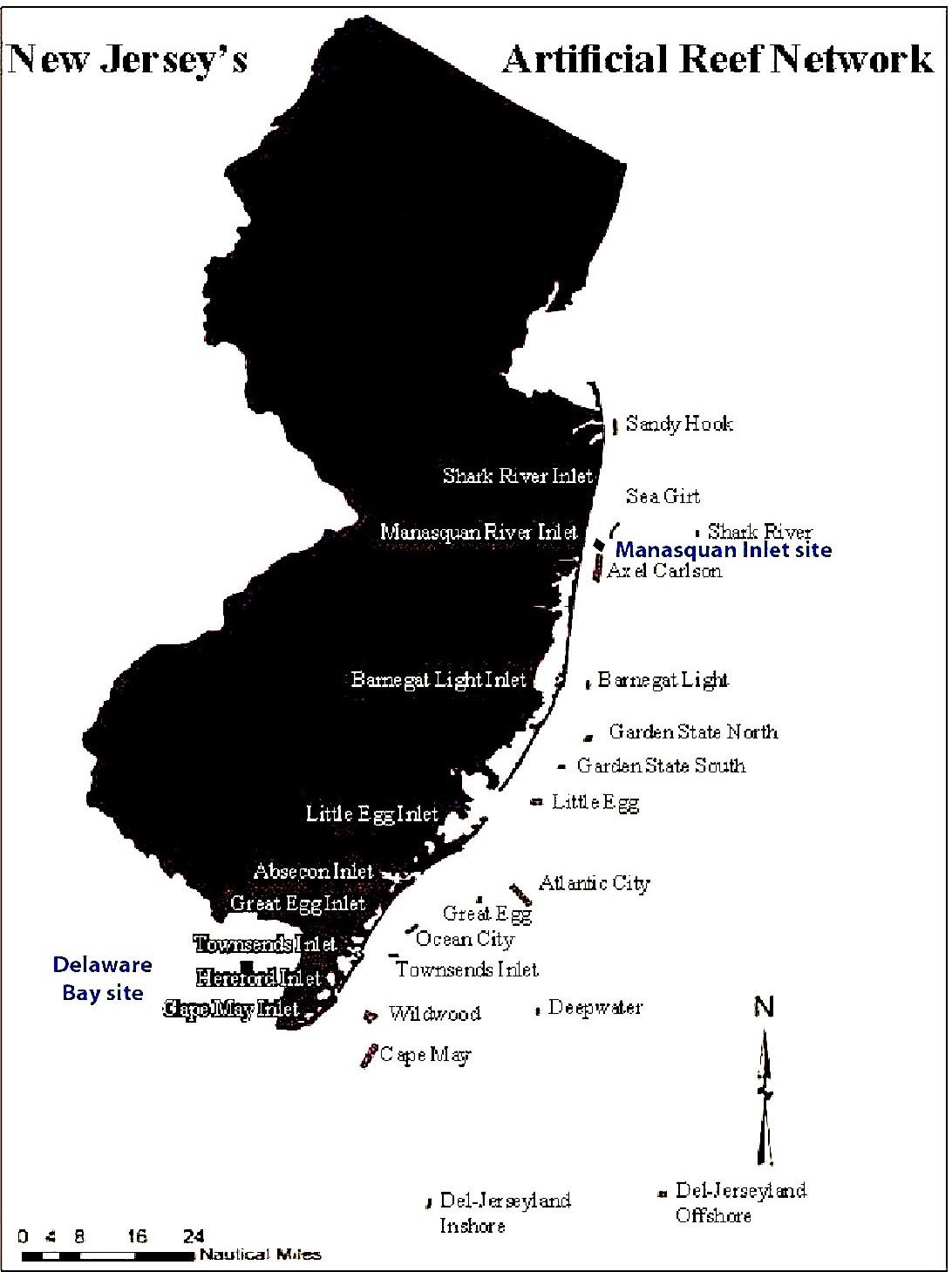 NJ Artificial Reef Network