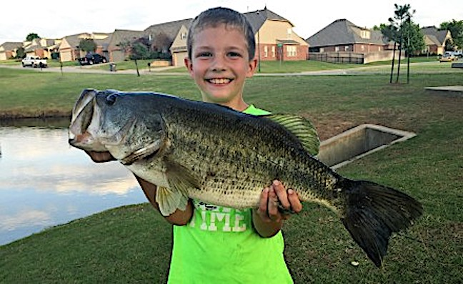 Kids Bragging Board: 'Monster' Bass, Rainbow, Perch