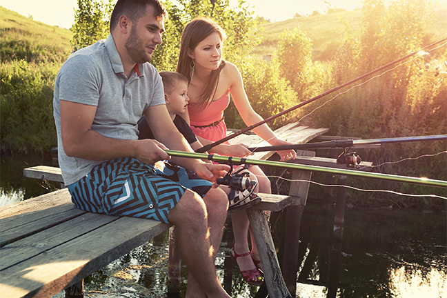 Family Fishing Great Plains
