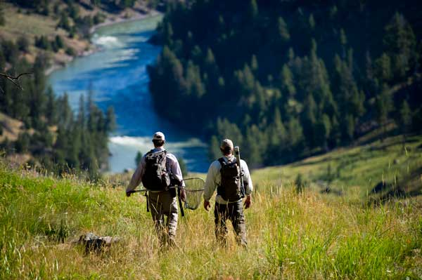 Hiking into the Yellowstone River in the park gets you away from the angling pressure and onto fish that are eager to eat dry flies. Pack some sunscreen, a can of bear spray and a few dry flies, and you're good to go.  Photo by Jim Klug