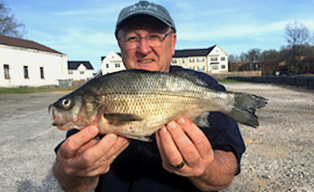 Maryland and North Dakota reported new state record catches this month.   George Venker with his