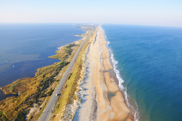 Whether you travel in an RV, by motorcycle or in a pickup with a boat in tow, you'll find miles of roads scenic roads to cruise on. Photo Courtesy Outer Banks Visitors Bureau
