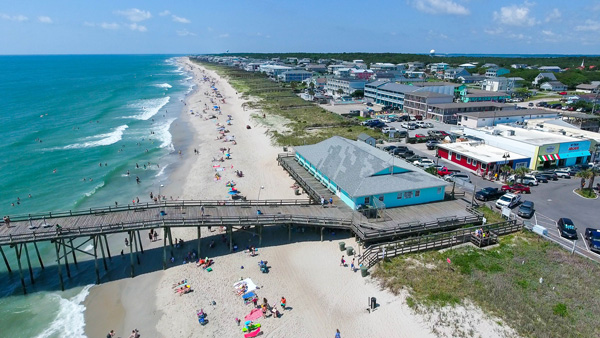 Finish your loop a Kure Beach where the famous pier offers some of the best fishing around. Photo Courtesy Wilmington and Beaches Convention & Visitors Bureau
