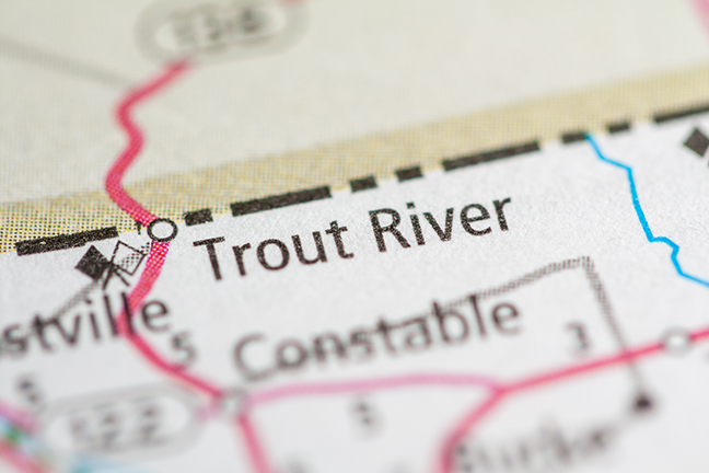 New York Map Trout Stream