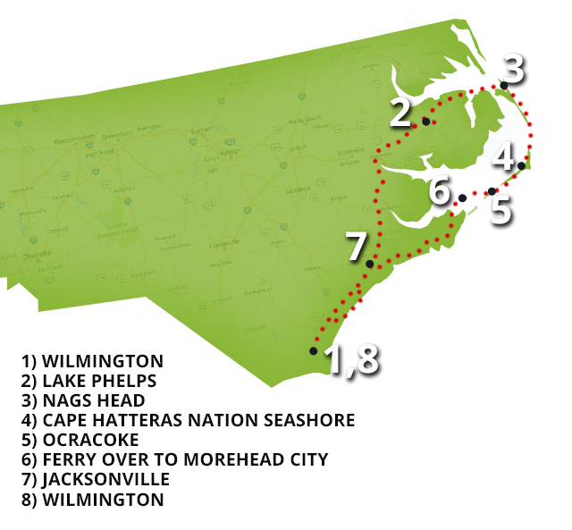 Best fishing vacation on the north carolina coast game for Nc fish and game