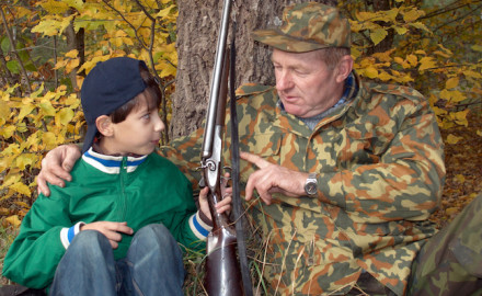 Young hunters don't just pop up out of the ground. They often are carefully nurtured and mentored