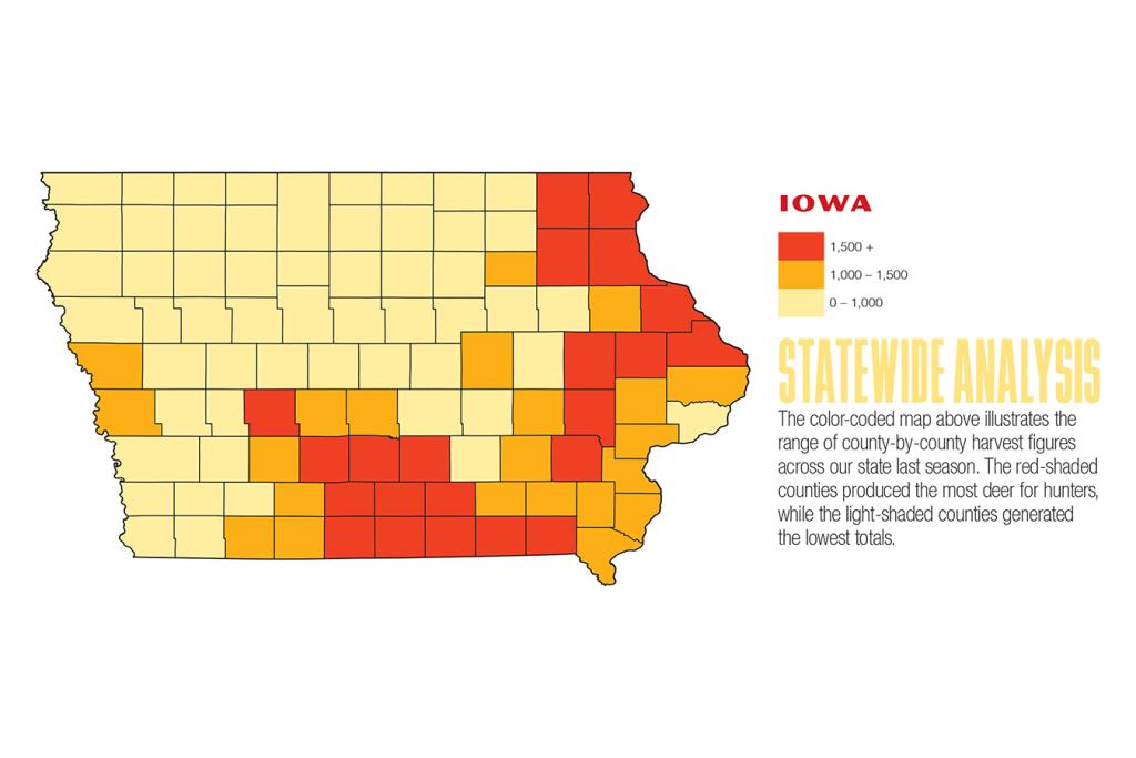 2017 Iowa Deer Forecast Map