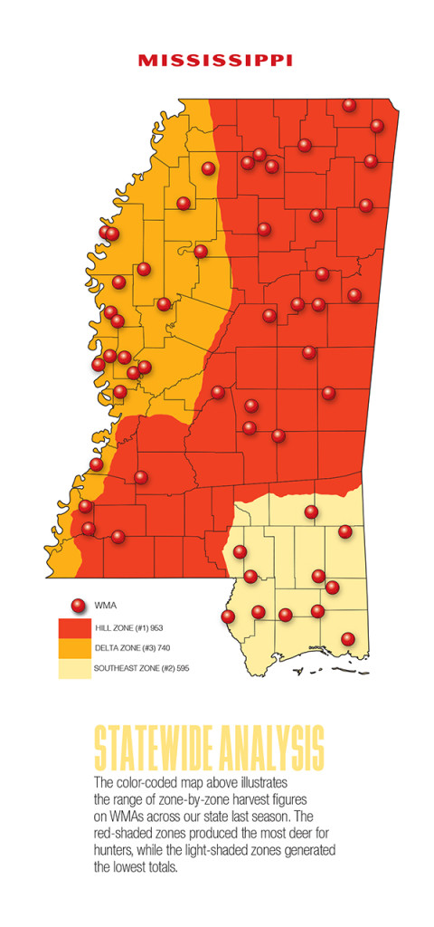 2017 Mississippi Deer Forecast Map