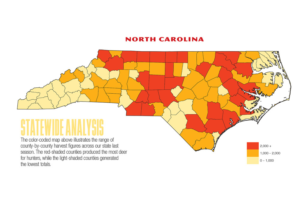 2017 North Carolina Deer Forecast Map