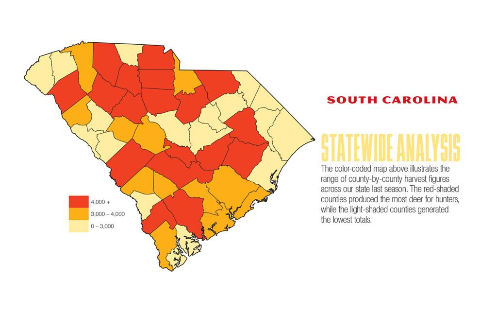 2017 South Carolina Deer Forecast Map
