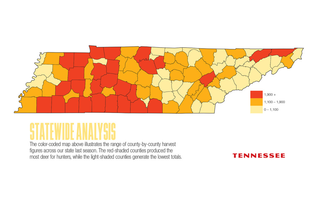 2017 Tennessee Deer Forecast Map