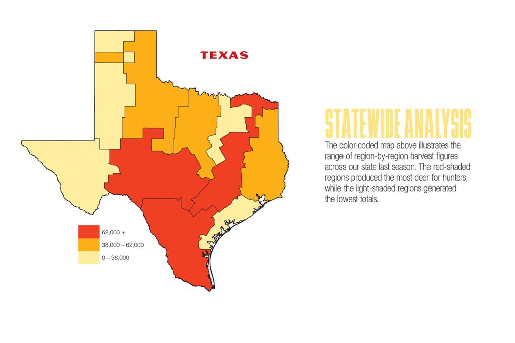 2017 Texas Deer Forecast Map