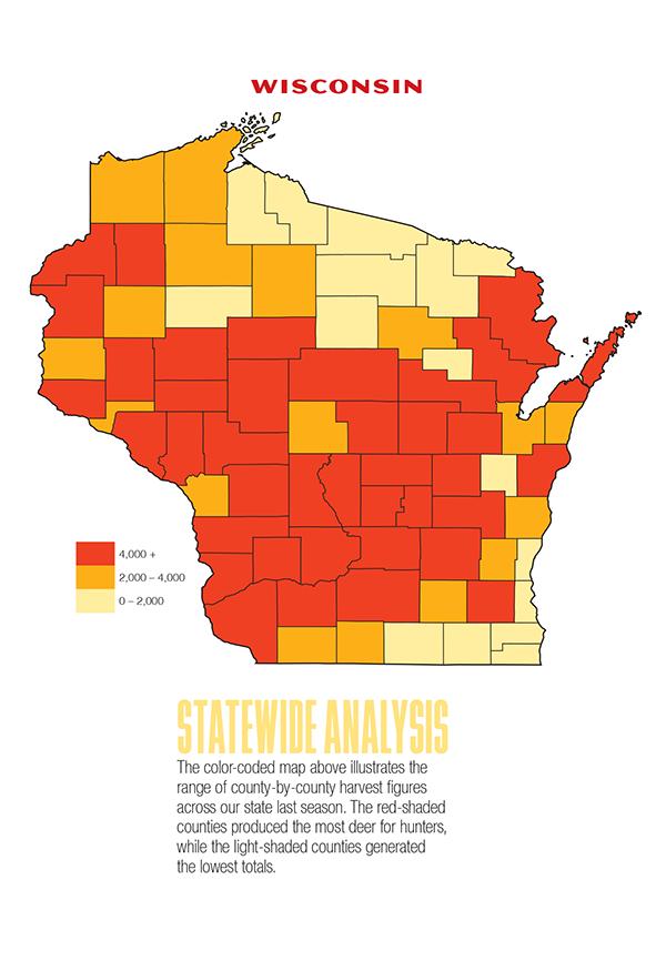 2017 Wisconsin Deer Forecast Map