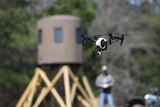 drones and deer