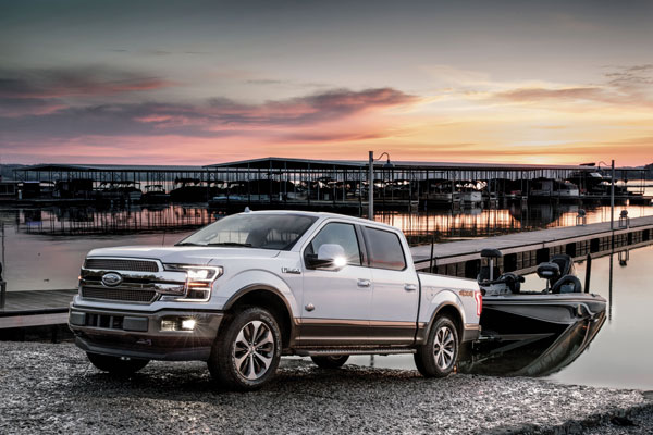 Backing up a trailer just became a lot easier thanks to several high-tech features on the new F-150 that make maneuvering on boat ramps a breeze.