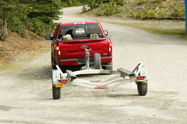 Ford's Pro Trailer Backup Assist makes backing your trailer up easy, but the first step is to make sure your truck and trailer are in a straight line.