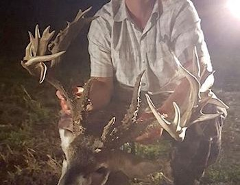 Oklahoma hunter Larry Wheeler tags two big bucks with a crossbow from the same stand only days