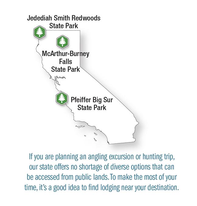CA Vacation Lodge Map