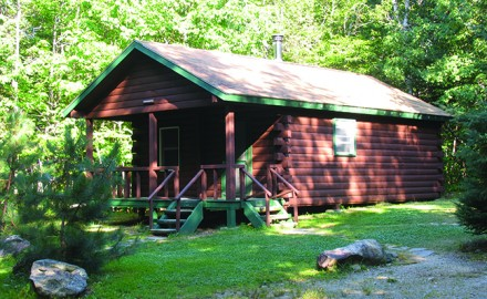 Comfortable state park cabins make a convenient base of operations for multi-day trips.