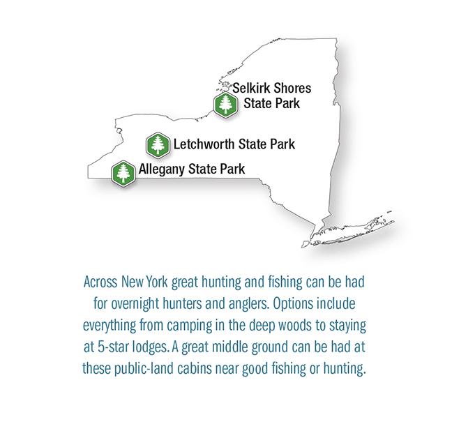 NY Vacation Lodge Map