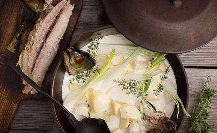 Make this tasty, creamy chowder recipe with smoked haddock or your favorite smoked fish.