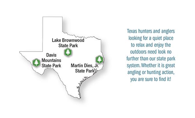 TX Vacation Lodge Map