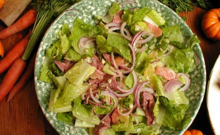 The perfect salad recipe to use up leftover upland game birds like pheasant, quail or dove.