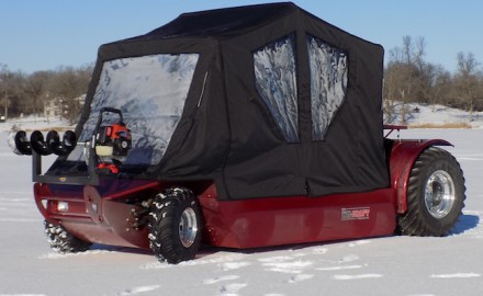 Ice-anglers are taking a renewed interest in the Wilcraft. For one thing, it floats! (Photo