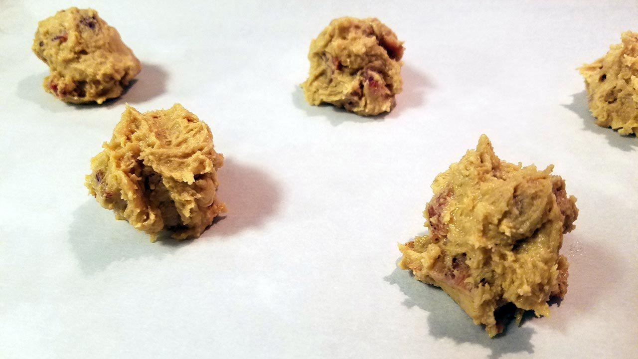Wild Boar Bacon, Peanut Butter and Bourbon Cookies Recipe dough