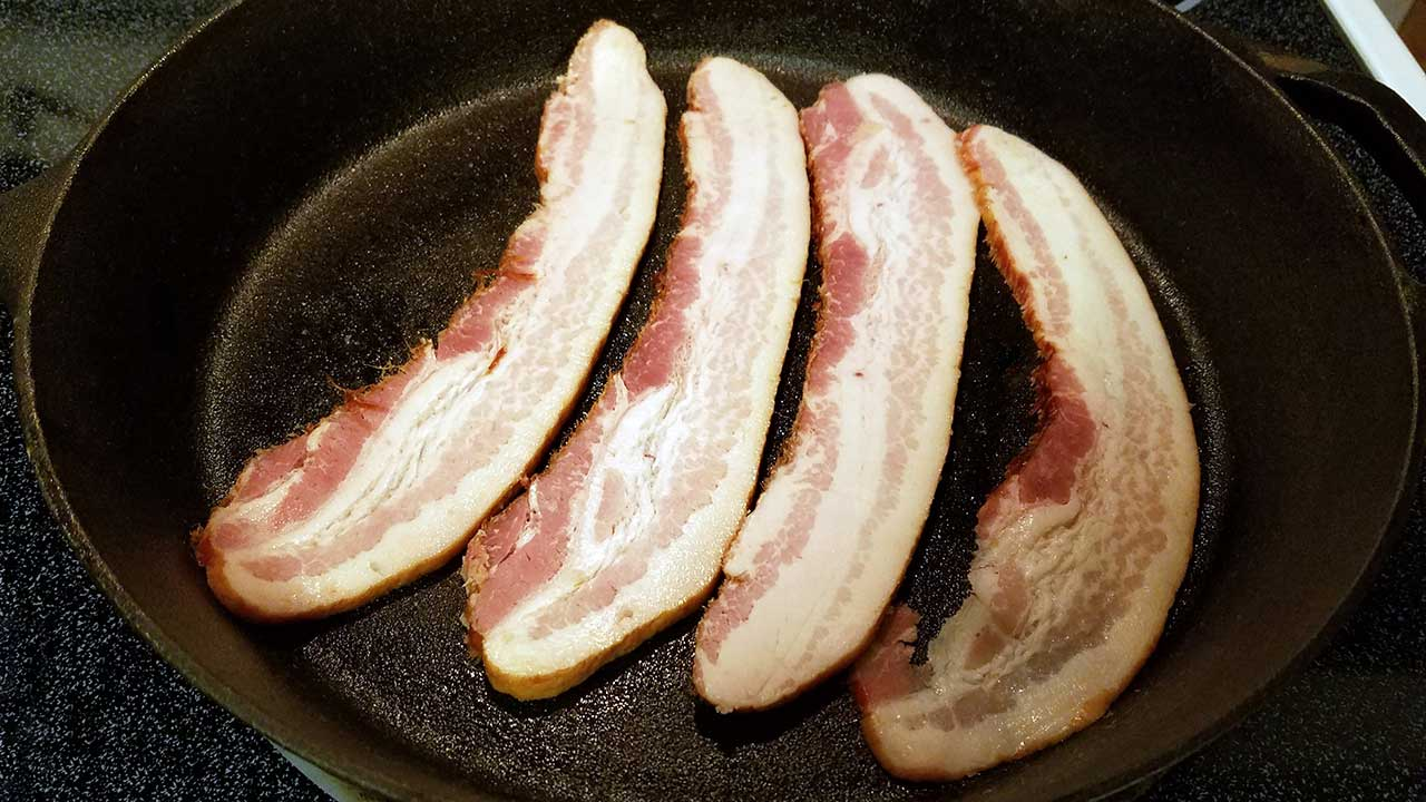 Wild Boar Bacon, Peanut Butter and Bourbon Cookies Recipe skillet