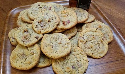 Wild Boar Bacon, Peanut Butter and Bourbon Cookies Recipe