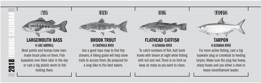 GA Fishing Calendar 2