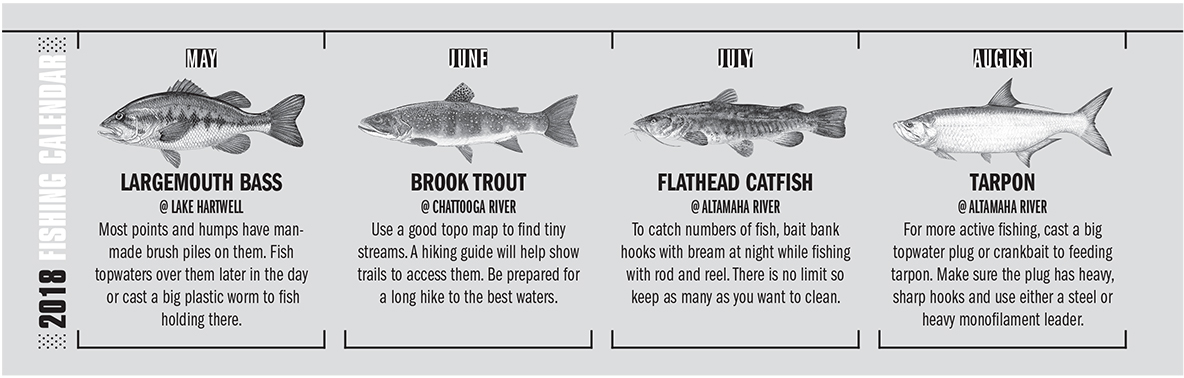 2018 Georgia Fishing Calendar