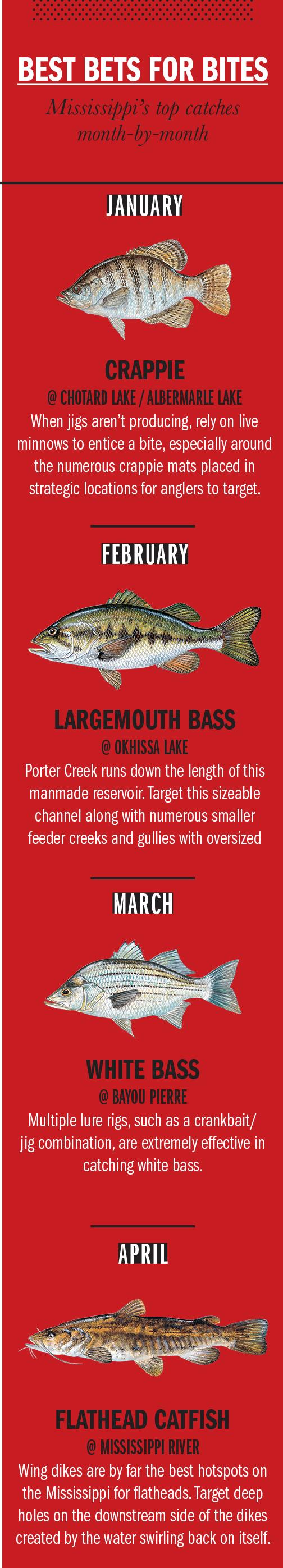 2018 Mississippi Fishing Calendar
