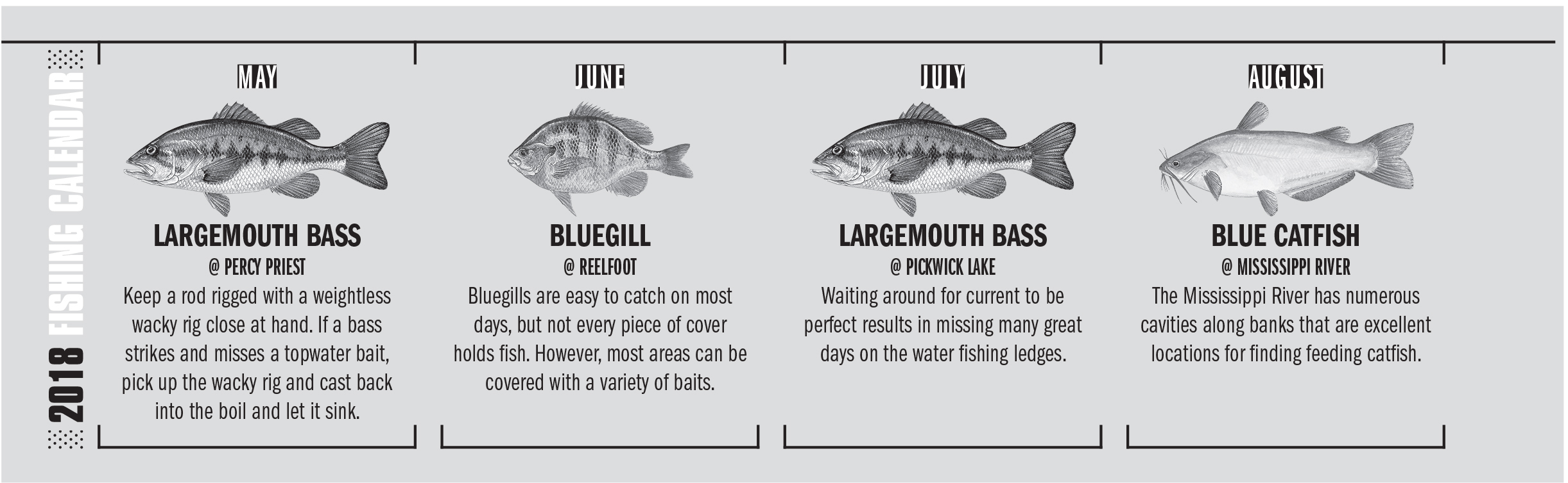 2018 Tennessee Fishing Calendar