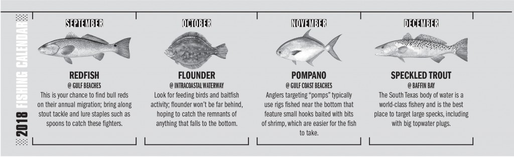 2018 Texas Fishing Calendar