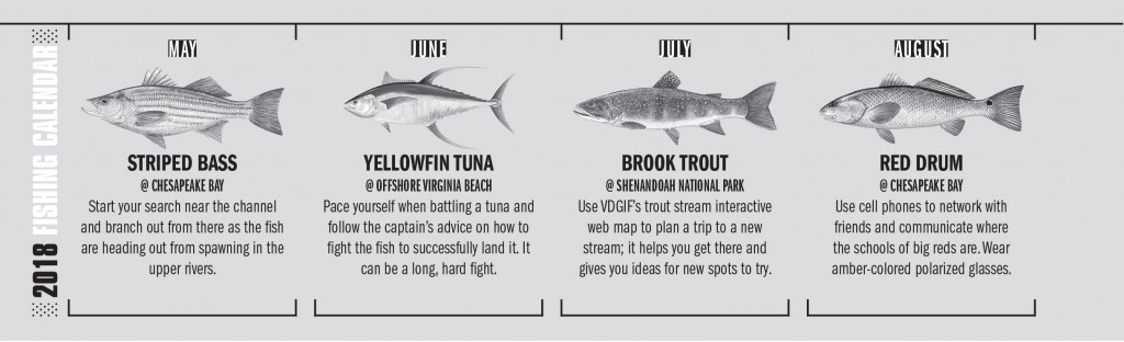 VA Fishing Calendar 2
