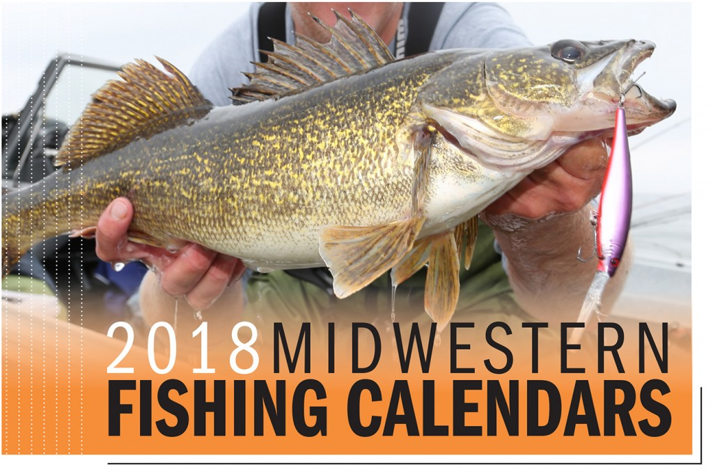 2018 Midwestern Fishing Calendar Cover