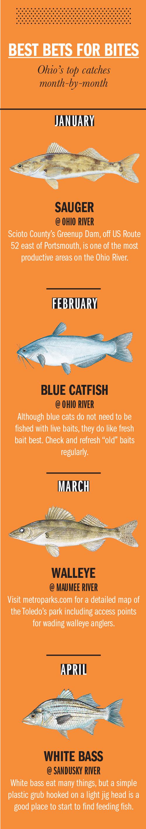 2018 Ohio Fishing Calendar