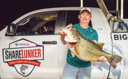 Texas angler John LaBove shows off the first Legacy Class entry into the newly revamped TPWD