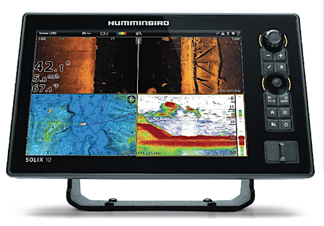 Humminbird's SOLIX offers anlgers underwater views in a multi-screen format.